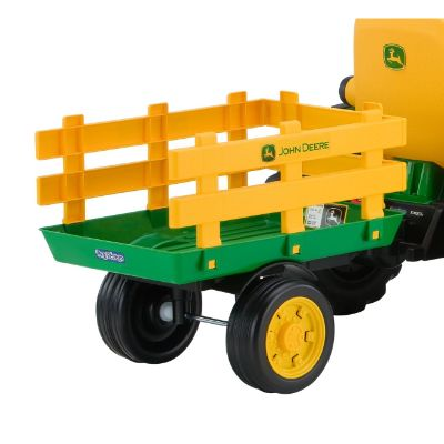 peg perego john deere force tractor electric cars for kids back view
