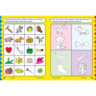 phonics for kindergarten educational book pages