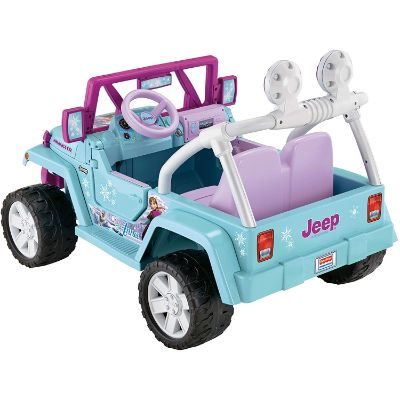 disney frozen jeep wrangler electric cars for kids back