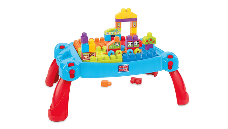 The Mega Bloks Build and Learn Table is portable.