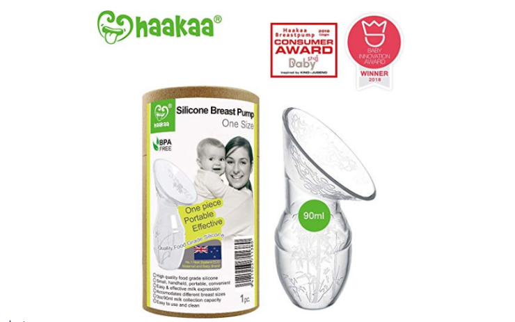 The Haakaa Silicone Breast Pump is an award winning pump.