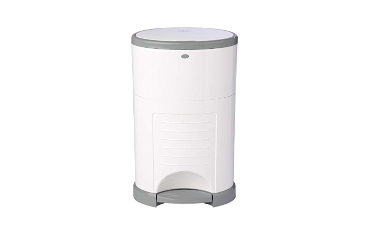 The Dekor Classic Hands-Free Diaper Pail has an effective triple odor control.