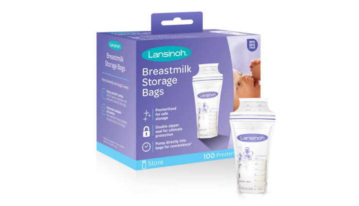The Lansinoh Breast milk Storage Bags are ideal for storing.