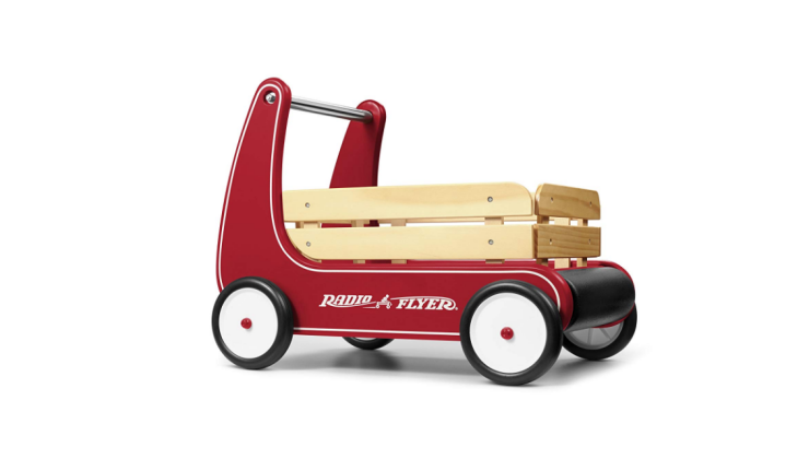The Radio Flyer Classic Walker Wagon can build confidence.