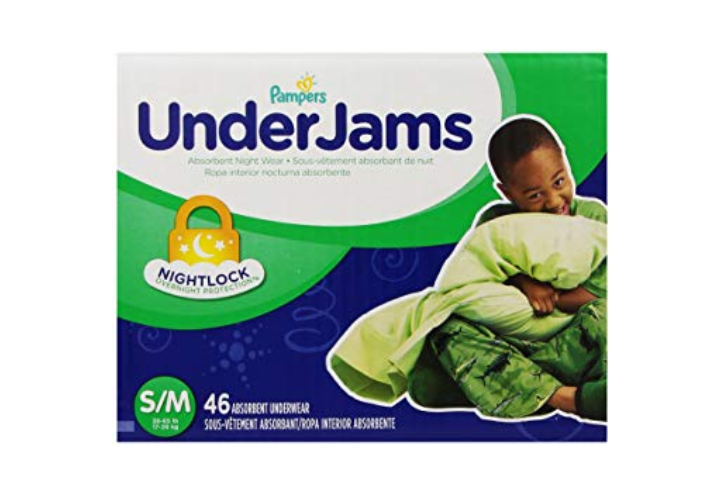 The Pampers UnderJams serve as disposable training pants.