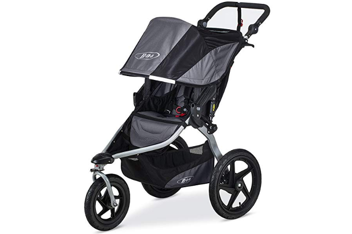 The BOB Revolution Flex 2.0 Jogging Stroller features an extra-large UPF 50+ canopy.