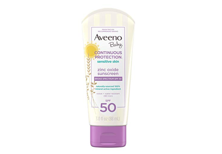 The Aveeno Baby Sensitive Skin Lotion is 100% Zinc-Oxide.