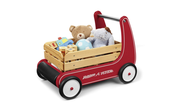 The Radio Flyer Classic Walker Wagon helps kids with their balance.