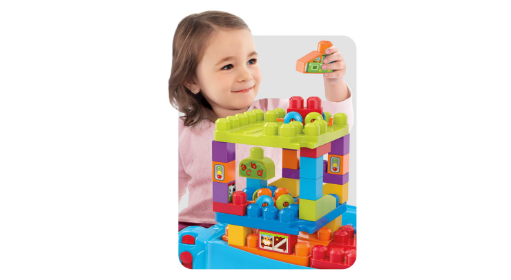 The Mega Bloks Build and Learn Table is foldable.