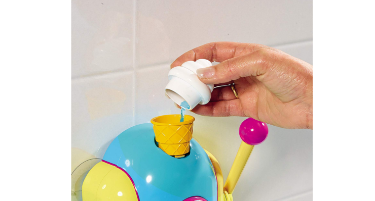 With the TOMY Toomies Foam Cone Factory your kids can make pretend ice cream.