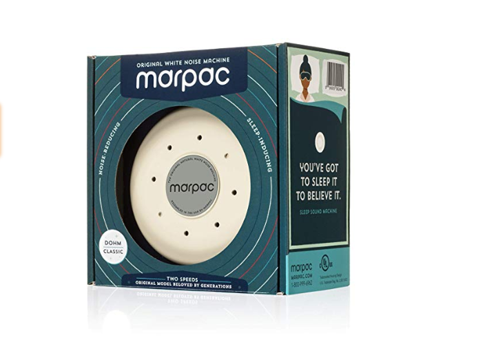 The Marpac Dohm Classic White Noise Machine has a one-year warranty.
