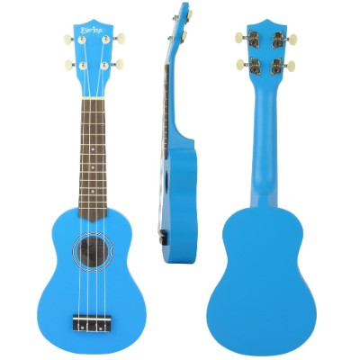everjoys soprano ukulele beginner kids guitar front, side and back