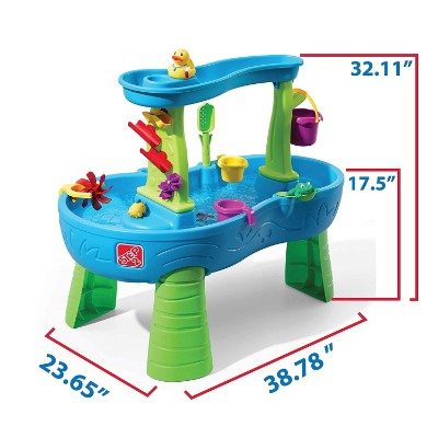 step2 rain showers splash water & sand table for kids and toddlers dimensions