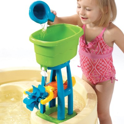 step2 big splash waterpark water & sand table for kids and toddlers tower