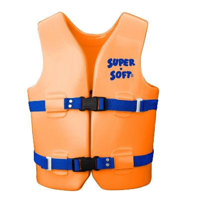 TRC recreation super soft USCG swim vests and life jackets for kids and toddlers orange