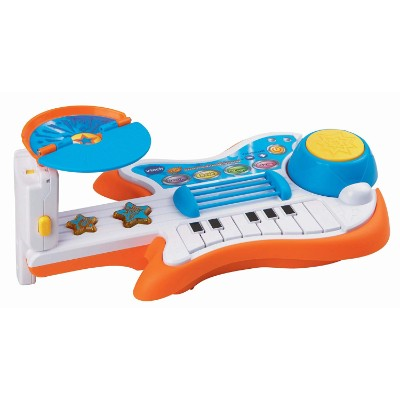 vTech strum and jam kids guitar close up