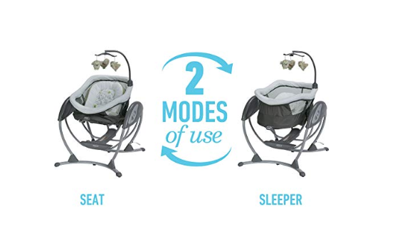 The Graco DreamGlider Gliding Swing and Sleeper, Percy