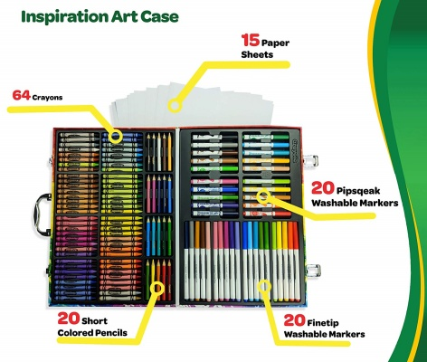 crayolainspiration 140 pieces art and craft sets for kids pieces