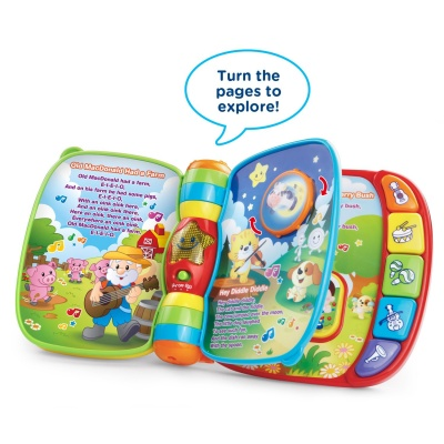10 Month Old Toys VTech Musical Rhymes Book Pages