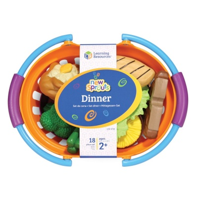 new sprouts dinner foods basket learning resources toy pack