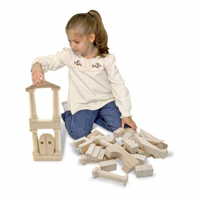 architectural wooden unit block set toys that start with a play