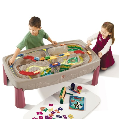 step2 toy deluxe canyon road train & track table parts