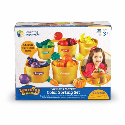 farmer's market color sorting set learning resources toy box