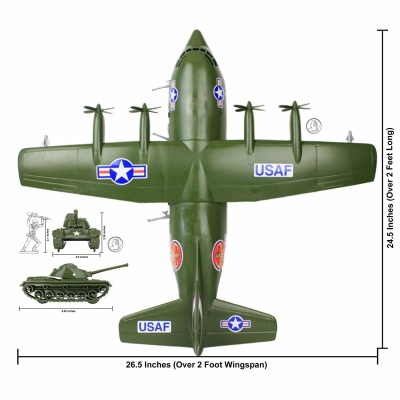 5. TimMee Plastic Army C130 Playset