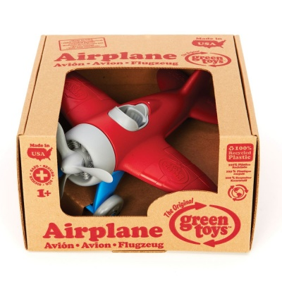 green toys airplane toys that start with a box