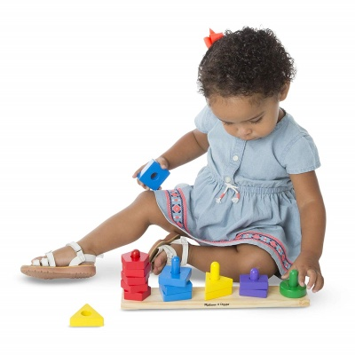 melissa and doug stack and sort board kid playing