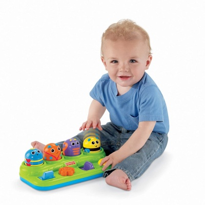 fisher-price brilliant basics boppin' activity bugs kid playing