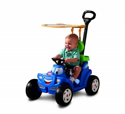 deluxe 2-in-1 cozy roadster little tikes toy blue