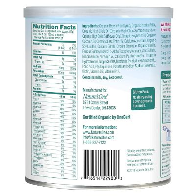 baby's only organic non-GMO dairy baby formula ingredients