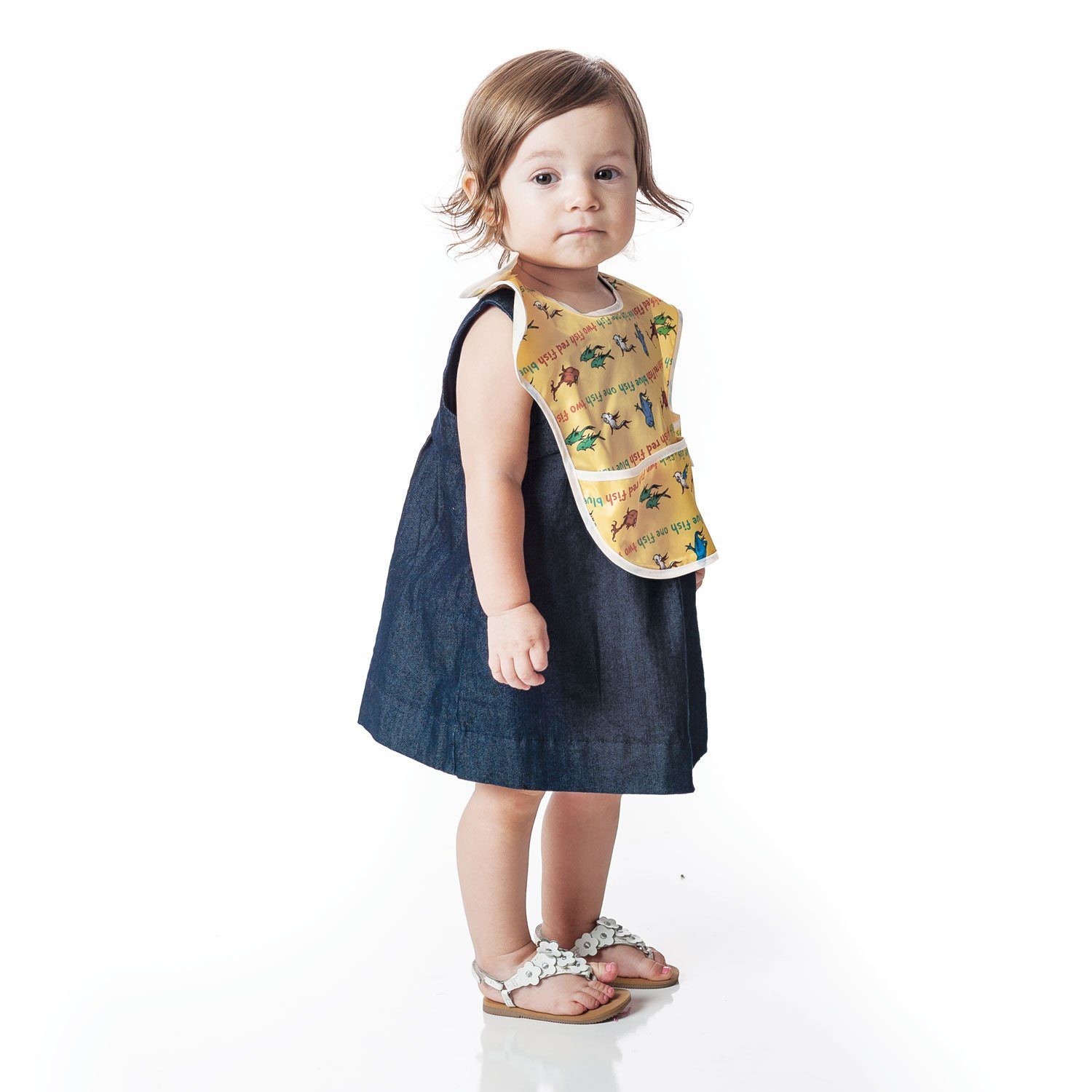 The Bumkins Waterproof Super Bibs are stain and odor resistant.