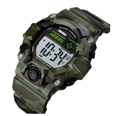 boys camouflage LED sports watch for kids design
