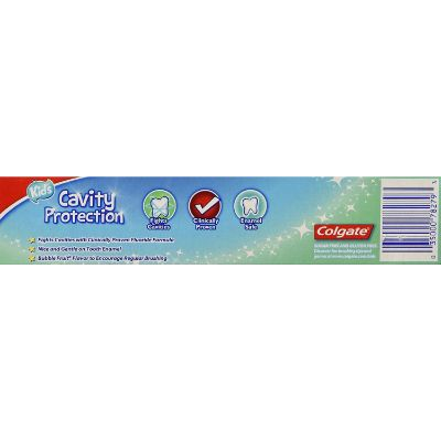 colgate cavity protection toddler toothpaste back