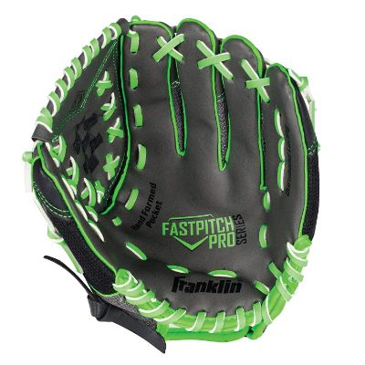 wilson windmill for softball kids baseball gloves black and green