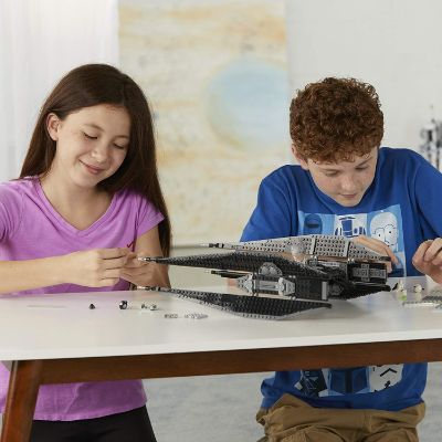 kylo ren's tie fighter lego star wars set play