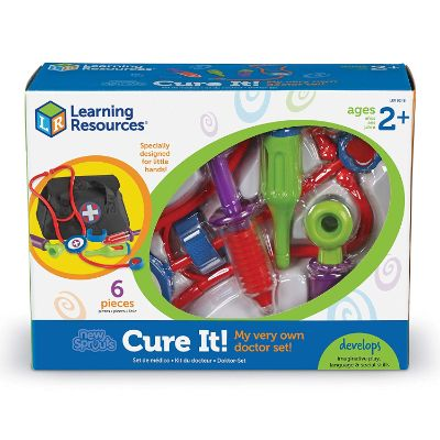 learning resources new sprouts cure it! kids doctors kit box