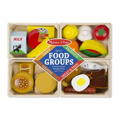 melissa and doug food groups wooden toys for kids and toddlers package