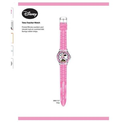minnie mouse analog watch for kids pink full