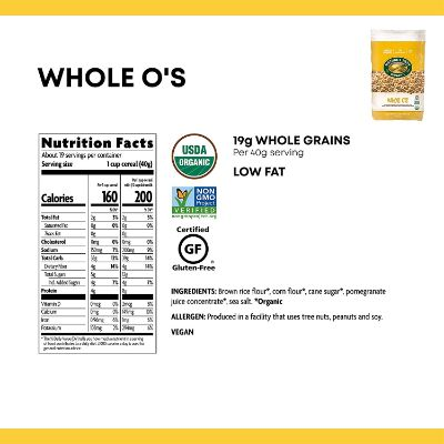 nature's path whole o's organic baby cereal nutrition