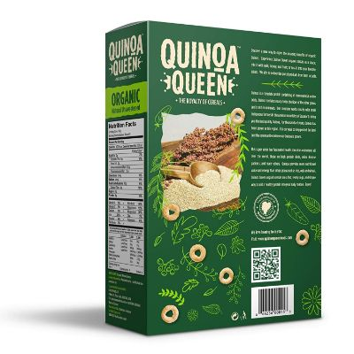 quinoa queen unsweetened organic baby cereal back