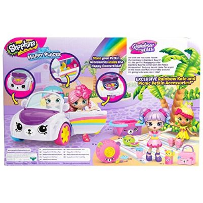 happy places rainbow beach convertible shopkins toys for kids back