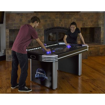 triumph lumen-x lazer 6' interactive air hockey table players