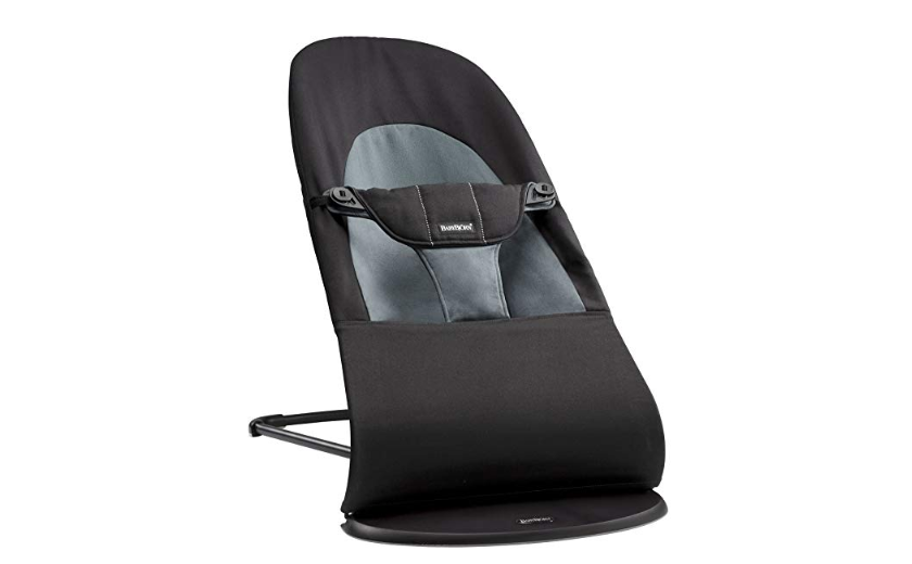 The BabyBjorn Bouncer Balance Soft  in Black/Dark Grey