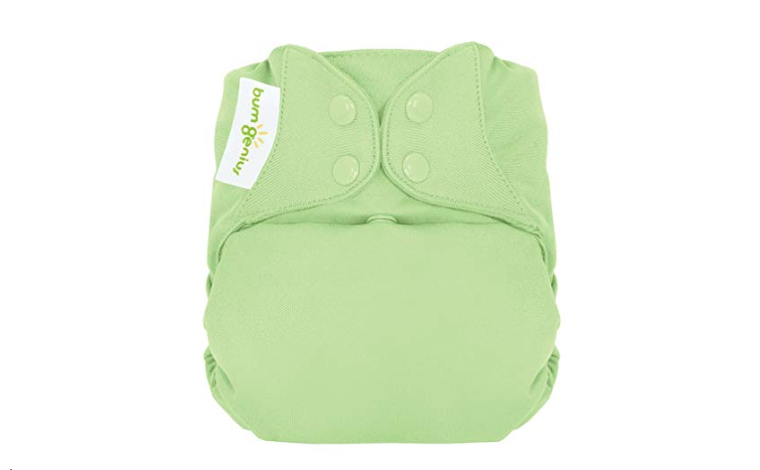 The bumGenius Freetime Cloth Diapers have easy to use snap closures.