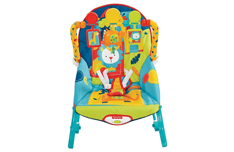 The Fisher-Price Infant to Toddler rocker comes with attached rattles that will keep your baby stimulated.