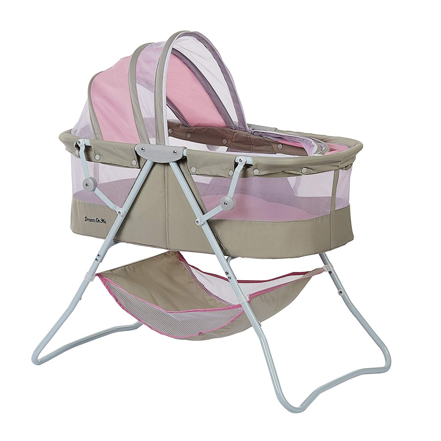 The Dream On Me Karley Bassinet features a double canopy.