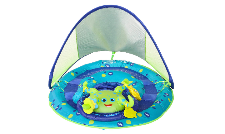 The SwimWays Baby Spring Float Activity Center has great safety features.